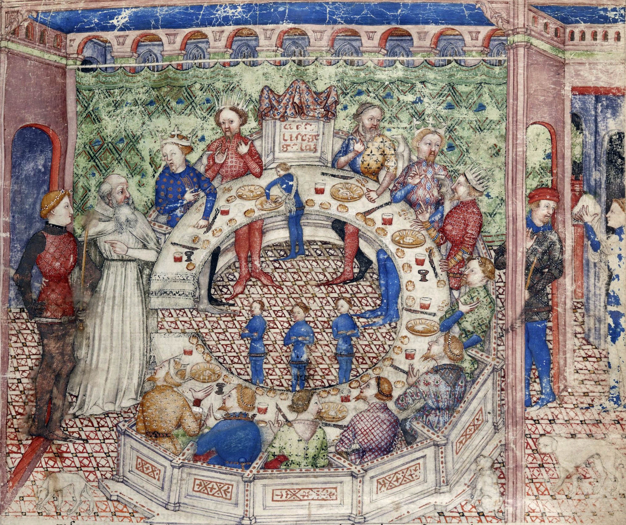 8 kep tcs Round table bnf ms fr 343 f3r 14th detail