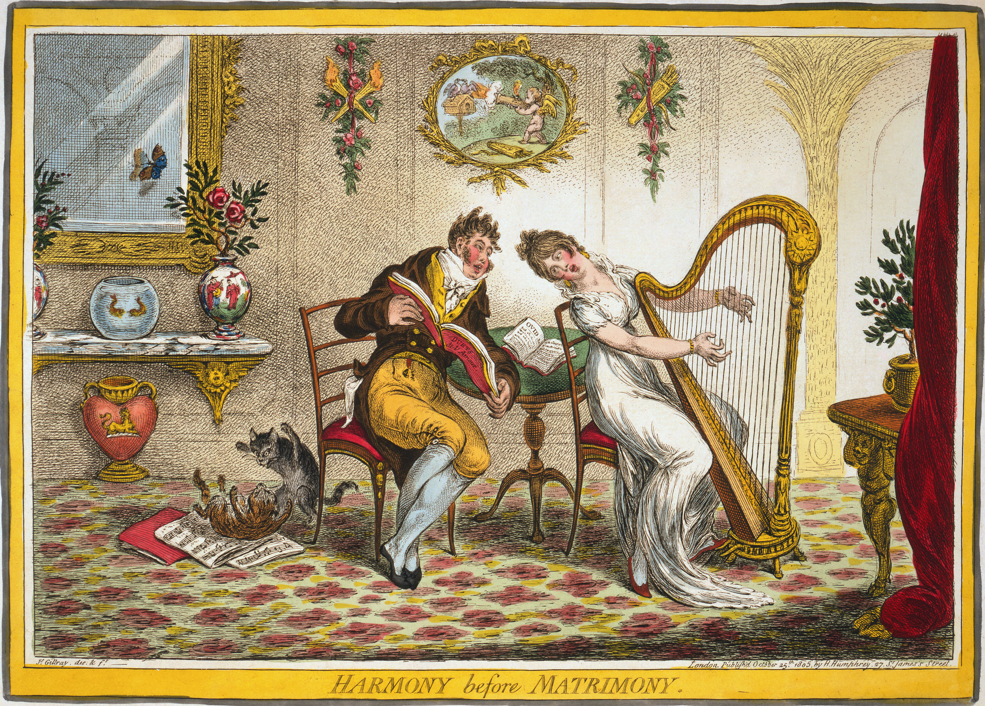 1805 gillray harmony before matrimony