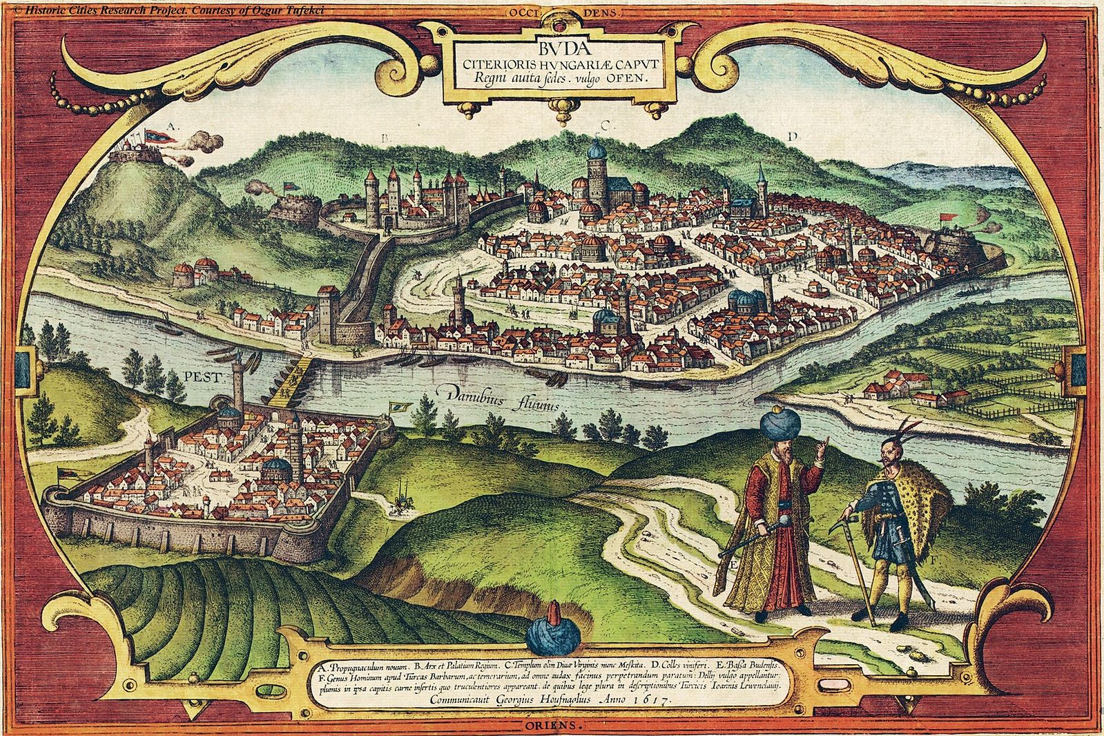 Braun Hogenberg Buda in the 16. century
